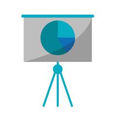 business presentation chart finance board vector image vector image
