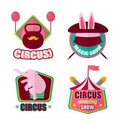 Circus emblems set vector