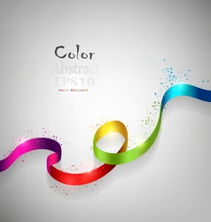 Color ribbon vector