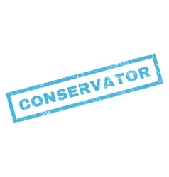 Conservator rubber stamp vector