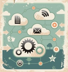 Creative concept of cloud computing connections vector image