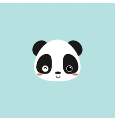 Cute panda face vector image
