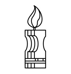 decorative candle icon outline style vector image