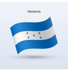 Honduras flag waving form vector image vector image