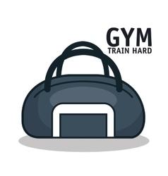 Icon sport bag gym design vector