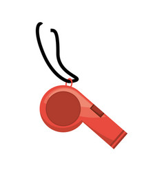 isolated training whistle vector image