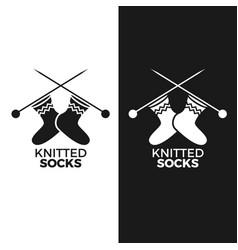 Knitted socks logo vector