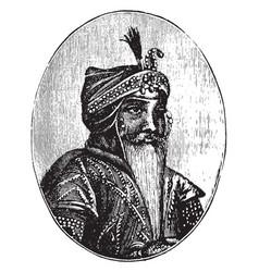Maharaja ranjit singh vintage vector