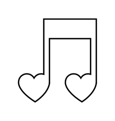 Musica note icon vector