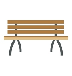 outdoor bench icon vector image