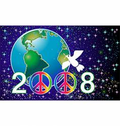 peace 2008 vector image