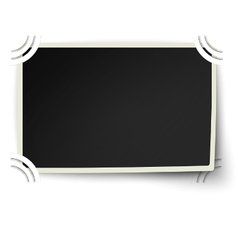 Photo frame with one not fixed corner in album vector