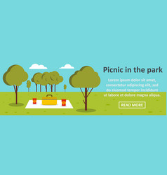 picnic in the park banner horizontal concept vector image