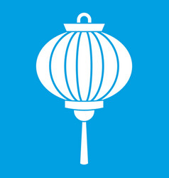 Red chinese lantern icon white vector