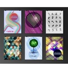 Set of poster flyer brochure design templates vector image