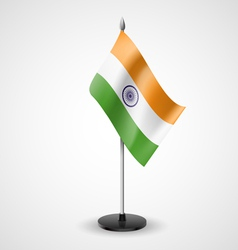 Table flag of india vector