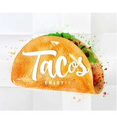 Tacos watercolor vector image vector image