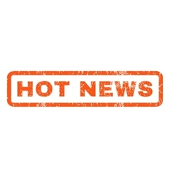 Hot news rubber stamp vector