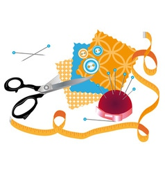 accessories for sewing 2 vector image