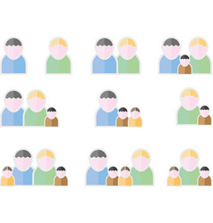 people flat symbols vector image