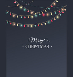 Vintage Christmas design with garlands vector image