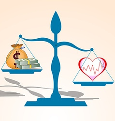 Health is more valuable than money vector