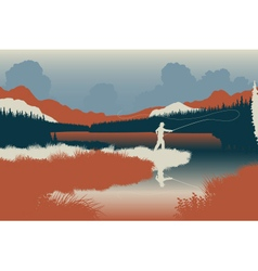 Wilderness fishing vector