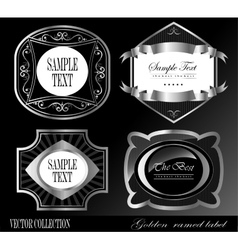 Collection vintage and retro labels vector
