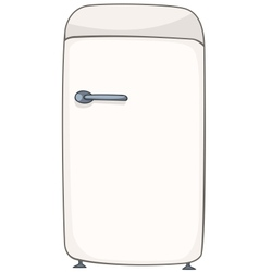 Cartoon home kitchen refrigerator vector