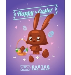 Set of easter characters cute cartoons vector