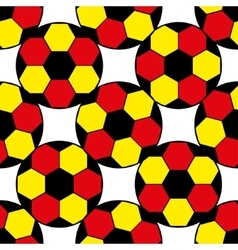 Pattern for football championship a soccer ball vector