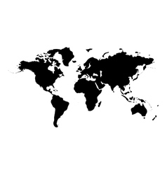 World map isolated on white background vector