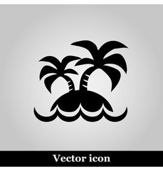 Island icon on grey background vector