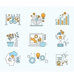 Abstract collection flat business and vector