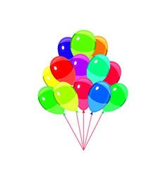 Balloons party multicolored isolated on white vector