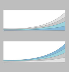 Banner design from curved stripe layers - design vector
