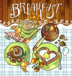 beautiful breakfast vector image