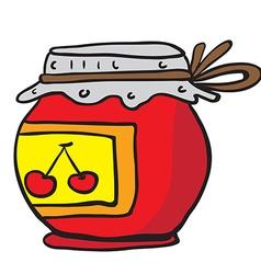cherry jam jar vector image