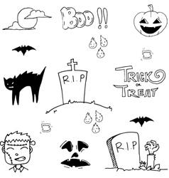 Doodle of tomb halloween vector
