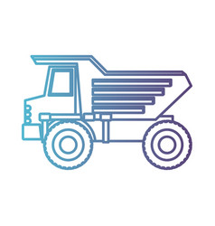 dump truck flat icon gradient color silhouette vector image vector image