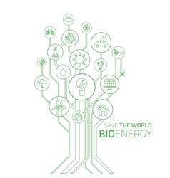 Ecology infographic bio energy vector