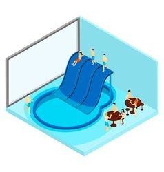 Indoor water park vector