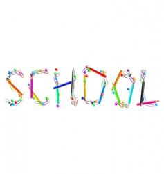 inscription school vector image