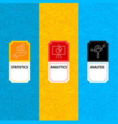 Line analytics package labels vector