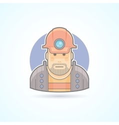 Miner worker icon Avatar and person vector image vector image