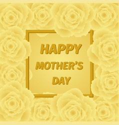 mom s day greeting poster design rose flower vector image