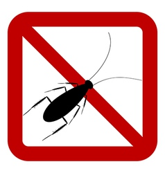 No cockroach sign vector