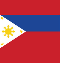 Philippines flag for independence day and vector