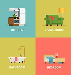 Room icon set vector