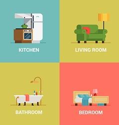 Room Icon Set vector image